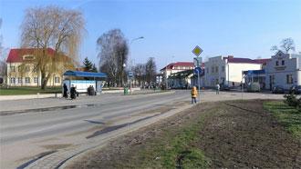Панорама улицы С.Панковой в городе  Волковыске. Нажмите на изображении, чтобы посмотреть фотографию в полный размер.
