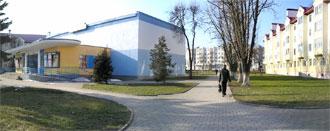 Панорама ул. Ленина рядом с кинотеатром «Юность»  в городе Волковыске. Нажмите на изображении, чтобы посмотреть фотографию в полный размер.
