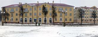 Панорама площади Ленина в городе Волковыске. Нажмите на изображении, чтобы посмотреть фотографию в полный размер.